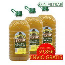 Aceite de oliva Virgen Extra 5 litros sin filtrar