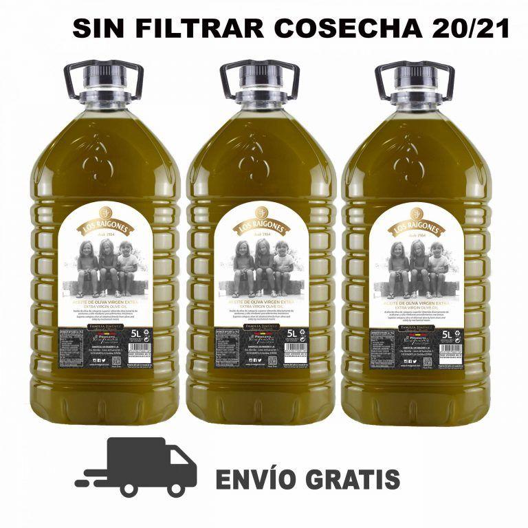 aceite de oliva virgen extra los raigones garrafa 5 litros